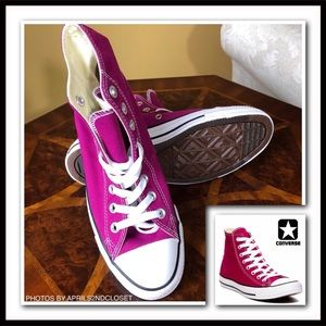 CONVERSE CANVAS SNEAKERS Sapphire Pink High Tops